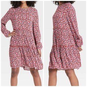 Knox Rose Long Sleeve Paisley Peasant Dress XS